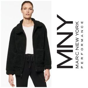 Marc New York Abby Faux Sherpa Jacket Zip Up L